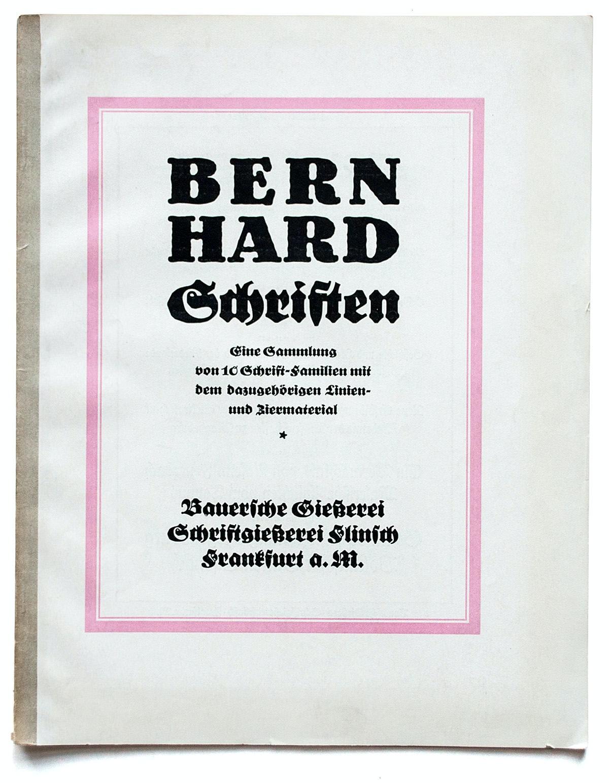Bernhard Schriften 01