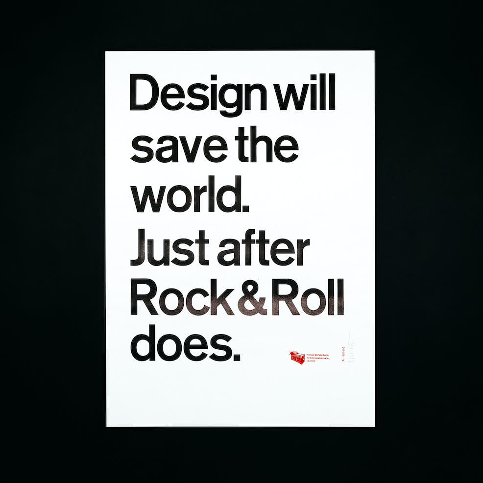 P98a Design Will Save The World Just After Rock Roll Does